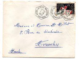 1964--Lettre De LA PETITE BOISSIERE-79  Pour AVRANCHES-50 -- Beaux Cachets (Bureau Rural Hexagonal) - 1961-....