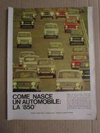 - INSERTI EPOCA / COME NASCE UN AUTOMOBILE FIAT 850 / 1964 - Livres, BD, Revues