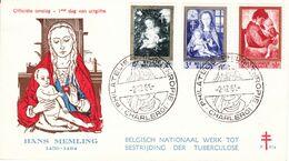 B01-173 BELG.1961 1198-03 FDC  Antiteringszegels ,Moeder En Kind  Antituberculeux - Noël - La Mère Et L'enfant 4.5€ - Maximum Cards