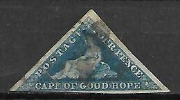 CAP DE BONNE  ESPERANCE   -    1855 .  4 Pence Bleu Oblitéré. - Afrique Du Sud (...-1961)