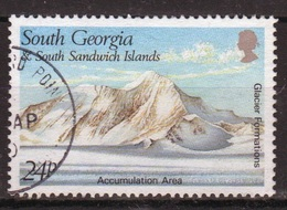 South Georgia 1989 Single 24p Stamp Issued To Celebrate Glacier Formations. - South Georgia