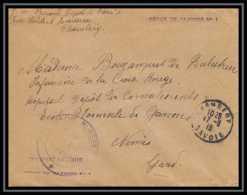 3151 Lettre France Guerre 1914/1918 Chambery Dépot De Blessés N°1 97ème Infanterie Nimes - Marcophilie (Lettres)