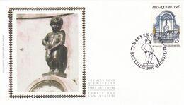 B01-174 BELG.1992 2468 2 X FDC ( BruxellesBrussel ) Soizijde   Manneken Pis 1.95€ - Maximum Cards