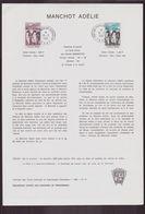 """TAAF, Document De La Poste Du 18 Mars 1981 Port Aux Français Kerguelen """" Manchot Adélie """" - Terres Australes Et Antarctiques Françaises (TAAF)"""
