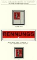 Bund MiNr. 442 F50 Postfrisch MNH Plattenfehler Mit Formnummer 1 (BW6887 - [7] Federal Republic