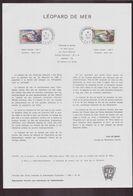 """TAAF, Document De La Poste Du 18 Mars 1981 Port Aux Français Kerguelen """" Léopard De Mer """" - Terres Australes Et Antarctiques Françaises (TAAF)"""
