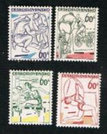 CECOSLOVACCHIA (CZECHOSLOVAKIA) -  SG 1455.1458  -  1965 SPORTS  EVENTS (COMPLET SET OF 4)               -  MINT** - Czechoslovakia