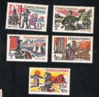 CECOSLOVACCHIA (CZECHOSLOVAKIA) -  SG 1484.1488  -  1965 LIBERATION ANNIVERSARY (COMPLET SET OF 5)    -  MINT** - Czechoslovakia