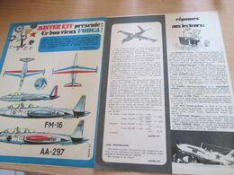 """SPI720 Issu De Spirou Des 70""""'s MISTER KIT Présente : DOUBLE PAGE A4 / LE FOUGA MAGISTER - Flugzeuge"""