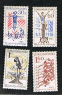 CECOSLOVACCHIA (CZECHOSLOVAKIA) -  SG 1489.1492  -  1965 NATIONALSPARTACIST GAMES (COMPLET SET OF 4)    -  MINT** - Czechoslovakia