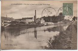 51 AY-en-CHAMPAGNE  Vue Sur Le Canal Vers Le Pont Victor-Hugo - Ay En Champagne