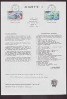 """TAAF, Document De La Poste Du 21 Juin 1982 Port Aux Français Kerguelen """" Alouette II """" - Terres Australes Et Antarctiques Françaises (TAAF)"""
