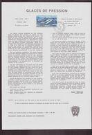 """TAAF, Document De La Poste Du 21 Juin 1982 Port Aux Français Kerguelen """" Glaces De Pression """" - Terres Australes Et Antarctiques Françaises (TAAF)"""