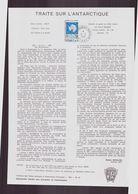 """TAAF, Document De La Poste Du 21 Juin 1982 Port Aux Français Kerguelen """" Traité Sur L'Antarctique """" - Terres Australes Et Antarctiques Françaises (TAAF)"""