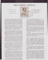 """TAAF, Document De La Poste Du 21 Juin 1982 Port Aux Français Kerguelen """" Adèle Dumont D'Urville """" - Terres Australes Et Antarctiques Françaises (TAAF)"""