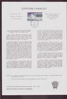 """TAAF, Document De La Poste Du 21 Juin 1982 Port Aux Français Kerguelen """" Station Charcot """" - Terres Australes Et Antarctiques Françaises (TAAF)"""