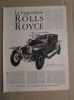 - ARTICOLO LA LEGGENDARIA ROLLS ROYCE  ANNI '60 - Livres, BD, Revues