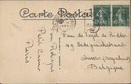 JO Flamme Jeux Olympiques Paris Mai Juin Juillet 1924 YT 159 X2 CAD Paris XVII R Clignancourt 18 6 24 CPA R Soufflot - Mechanische Stempels (reclame)