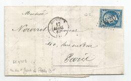 - AISNE - SOISSONS - GC.3420s/TPND N°14 + Càd Type 15 - 1863 - RARE - 1853-1860 Napoléon III