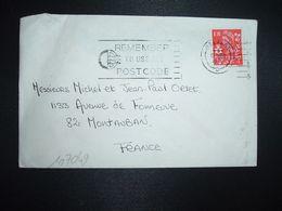 LETTRE TP 4 D OBL.MEC.17 DEC 1969 BELFAST - Irlanda Del Norte