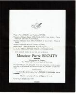 Faire Part De Décès - Pierre BROUTA - Brasseur - Farciennes 1896 / 1961 - Voir Scan - Obituary Notices