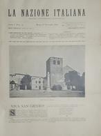 Rivista - La Nazione Italiana - Anno I - 16 Novembre 1890 - N. 35 - Libri, Riviste, Fumetti
