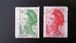 France Timbres Oblitérés N° 2191 Et 2192   - Année 1982 - Liberté De Delacroix - Francia
