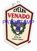 139101 ARGENTINA SANTA FE VENADO TUERTO PUBLICITY BICICLETA CYCLES VENADO CALCO NO POSTAL POSTCARD - Advertising