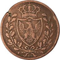 Monnaie, États Italiens, SARDINIA, Carlo Felice, 5 Centesimi, 1826, Genoa, TB+ - Regional Coins