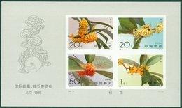 China Stamp 1995-19M Int'l Stamp&Coin Exp. (Sweet Osmanthus, Imper) 桂花无齿 S/S MNH - 1949 - ... République Populaire