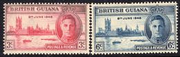 British Guiana 1946 Victory Set Of 2, MNH, SG 320/1 (WI2) - Britisch-Guayana (...-1966)