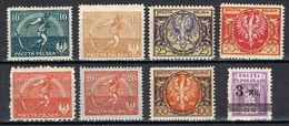 POLOGNE 224/230* - 1919-1939 Repubblica