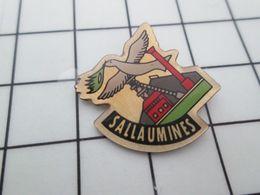 715a Pins Pin's / Rare & Belle Qualité THEME VILLES / SALLAUMINES CHARBON MINE COLOMBE DE LA PAIX - Banken