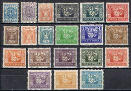 POLOGNE 242/261* - 1919-1939 Repubblica