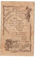 MENU DE 1898 SOCIETE DE TIR ECOLE DE WASSY PORTE DRAPEAU EXERCICE DE TIR SUPERBE - Menükarten