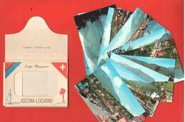 Lago Maggiore Ascona Locarno 10 Mini Cartoline Souvenir + Copertina - Obj. 'Remember Of'