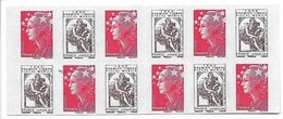 Carnet Avec Variété 4 Imprimé Sur Une Marianne, Voir Photos - Carnets