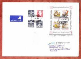 Grossbrief, Block Hafnia U.a., Ostjyllands Postcenter, Tilst Nach Leonberg 2015 (96303) - Cartas