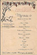 MENU Pensionnat De CHAGNY.Buffet De La Gare - Menus