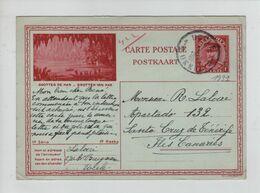 434PR/ Entier CP Illustrée 14-15 C.Uccle 27/1/1932 > Santa Cruz De Ténérife C.d'arrivée - Tarjetas Ilustradas