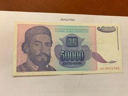 Yugoslavia 50000 Dinara Crispy Banknote 1993 - Jugoslawien
