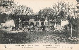51 Cour Du Chateau De La Harazée Guerre 1914 15 1918 - Francia