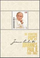 "Liechtenstein 2020: ""Papst Johannes Paul II"" Block Mit Selbstklebe-Marken Bloc Avec Timbre Auto-adhesiv ** (DieMarke Li) - Blocs & Feuillets"