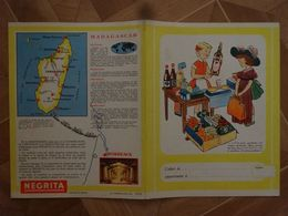 ANCIEN PROTÈGE-CAHIER RHUM NEGRITA MADAGASCAR MARTINIQUE POUR PÂTISSERIE CRÊPES - Coberturas De Libros