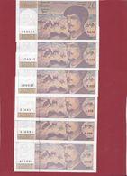 """20 Francs """"Debussy"""" 1997 ---état Voir Scan---11 Billets ---ALPH C.052 à E.053---Lot N °5 - 1962-1997 ''Francs''"""