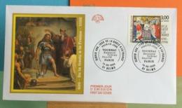 De La Gaule à La France- Baptême De Clovis  (496-1996) - 51 Reims - 14.9.1996 FDC 1er Jour - Coté 3,50€ Y&T - FDC