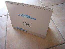 Avion / Airplane /  SABENA / Calendrier De Bureau / 1991 - Autres