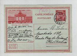 438PR/ Entier CP Illustrée 14-8 C.Uccle 10/9/1931 > Santa Cruz De Ténérife Iles Canaries C.d'arrivée - Tarjetas Ilustradas