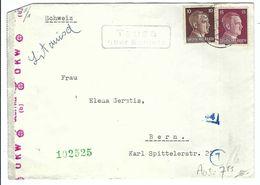 ALLEMAGNE 1942: LSC De Tausa Pour Basel  Affranchie à 25pf. Et Passée Par La Censure Allemande - Germania