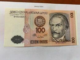 Peru' 100 Intis Uncirc. Banknote 1987 #2 - Perù